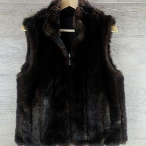 Faux Fur Reversible Vest